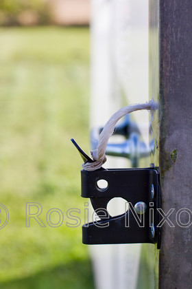 polytunnel latch with cord 
